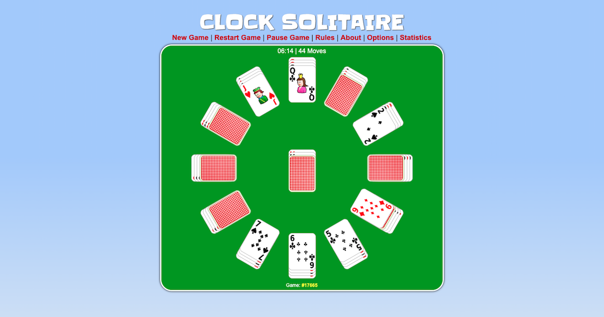Clock Solitaire Play It Online