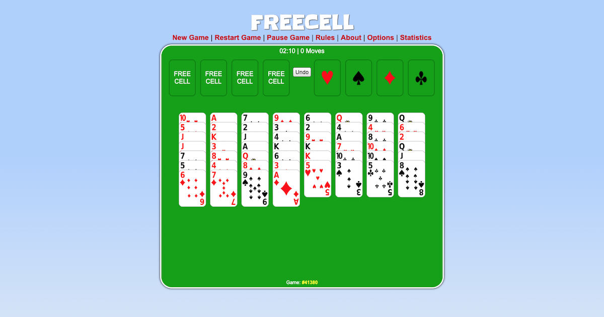 Free Cell Card Game