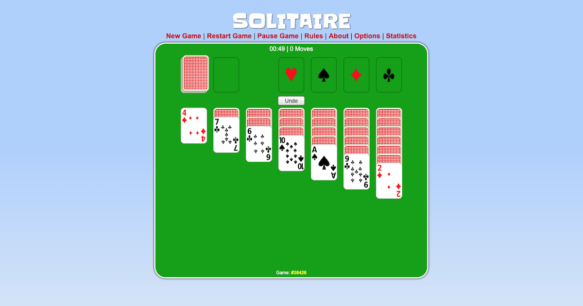 solitaire video game
